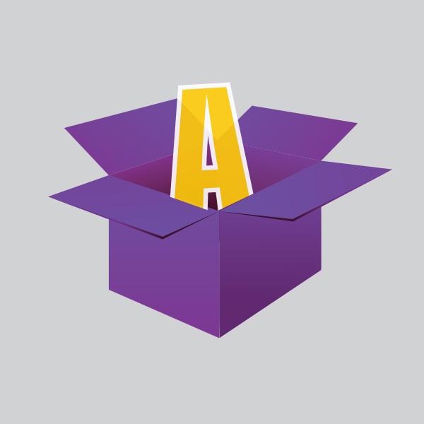 אייקון של קופסא עם האות A